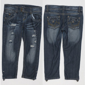 Apollo Jeans capris 5/6 denim distressed destroyed